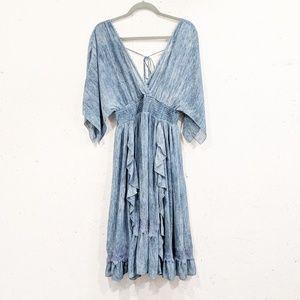 Moon River | slate blue volga dress midi boho S